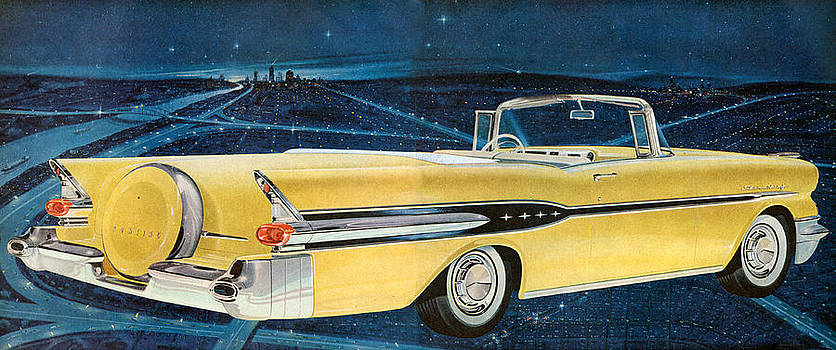 1950s Usa Pontiac Magazine Advert Detail by The Advertising Archives
