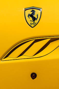 2010 Ferrari California Side Emblem by Jill Reger