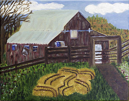 7 Bales Of Hay by Mary LaFever