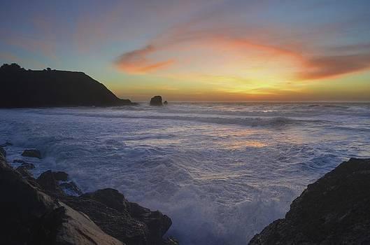 Golden Sky, Beautiful Water by Alex King