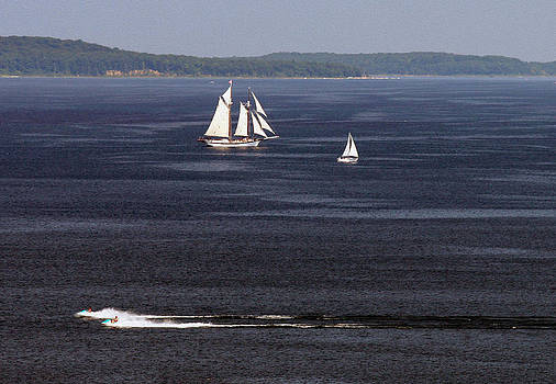 A Summer Day on Grand Traverse Bay by James Lady