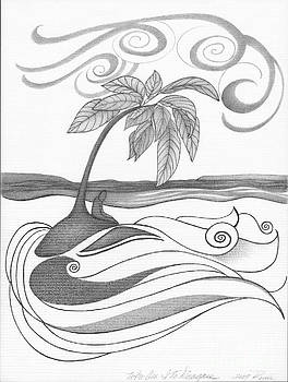 Abstract Art Tropical Black And White Drawing Who Am I To Disagree By Romi by Megan Duncanson