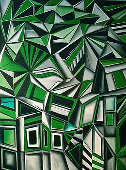 Abstract Cubism by Frank B Shaner