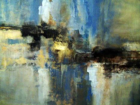 Abstract in Blues by Sheila Neeley