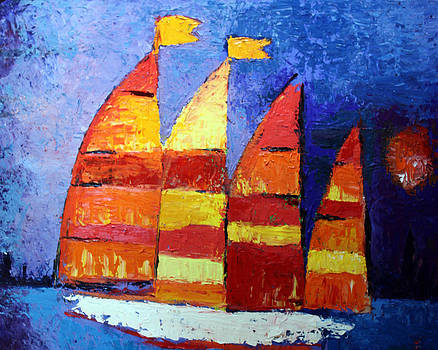 Abstract Sailboat by Francoise Lynch