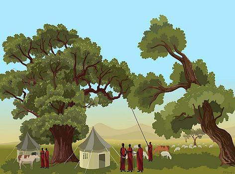African Masai by Prakash Leuva