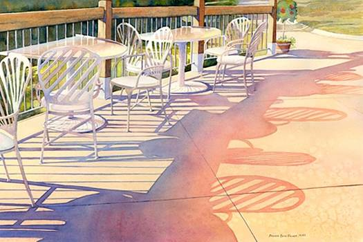 Afternoon Shadows at Les Bourgeois by Brenda Beck Fisher