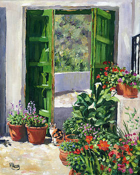 An Andalucian Patio by Margaret Merry