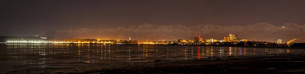 Anchorage at Night by Kyle Lavey