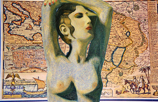 Augusta Stylianou - Ancient Middle East Map and Aphrodite