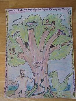 Animal Tree Animal Time by Lois Picasso