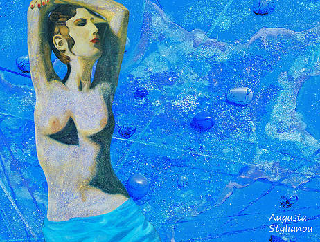 Augusta Stylianou - Aphrodite and  Cyprus Map
