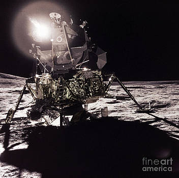 Science Source - Apollo 17 Moon Landing