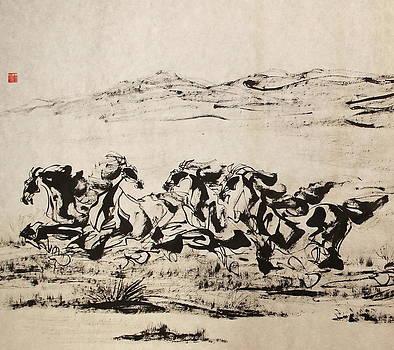 As a family galloping by Xiaochuan Li