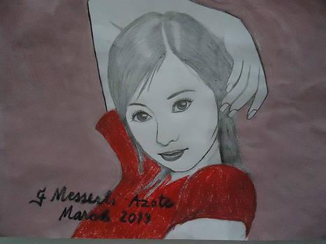 Asian girl by Fladelita Messerli-