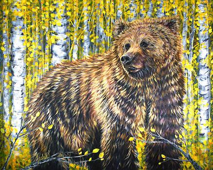 Aspen Bear by Teshia Art