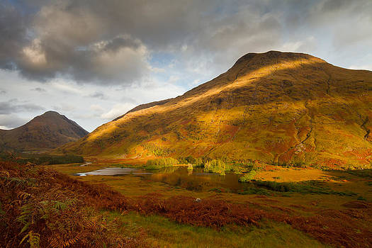 Autumn in Glen Etive Scotland by Gabor Pozsgai