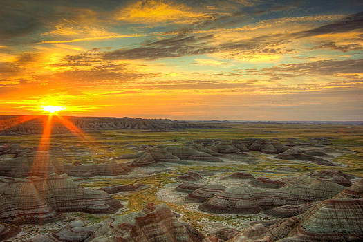 Badlands Sunrise by Jackie Novak