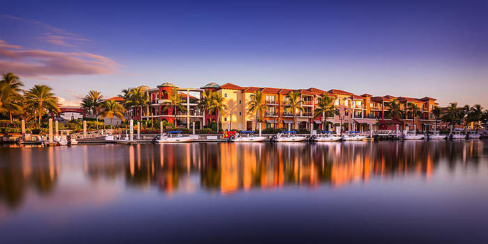 Bay Resort Naples Florida by Hans- Juergen Leschmann