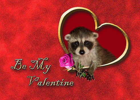 Jeanette K - Be My Valentine Raccoon