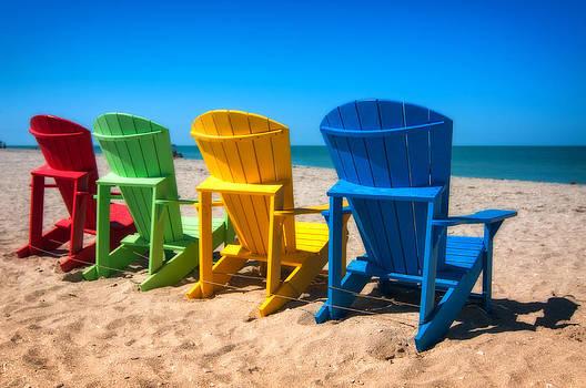 Beach Chairs - Sanibel Island by Dustin Ahrens