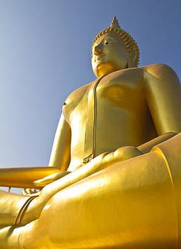 Big Buddha image in Thailand temple  by Kobchai Sukruean