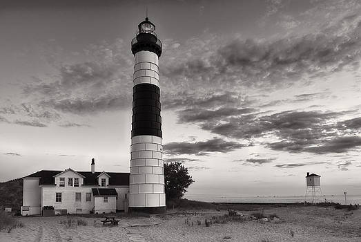 Sebastian Musial - Big Sable Point Lighthouse in Black and White