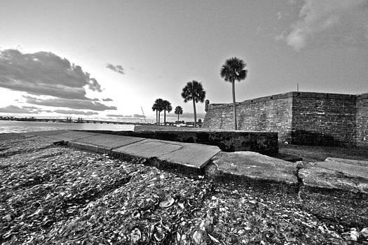 Black and White Castillo De San Marcos View 5 by Jessica Snyder