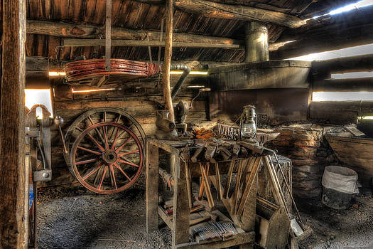 Blacksmith Shop by Jaki Miller