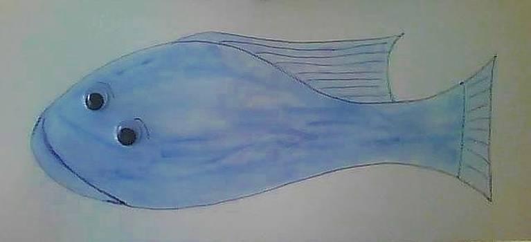 Blue Fin Fish by Karen Jensen