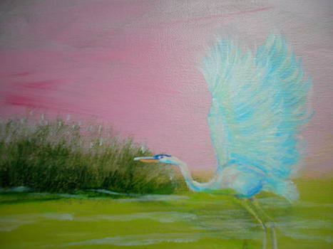 Blue Heron 3 by Linda Bright Toth