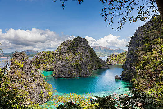 Fototrav Print - Blue Lagoon at Kayangan Lake Coron island Philippines
