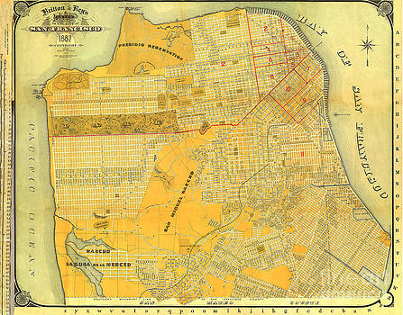 California Views Mr Pat Hathaway Archives - Britton And Reys Guide Map Of The City Of San Francisco. 1887.