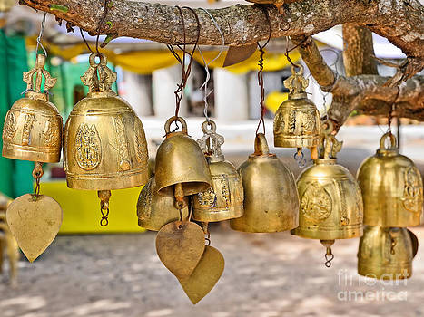Buddhist bells by Skyfish Images