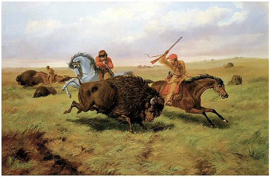 Arthur Fitzwilliam Tait - Buffalo Hunt
