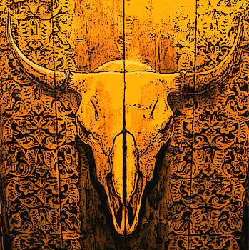 Buffalo Skull by Lorna Babcock