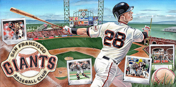 Buster Posey by Joshua Jacobs