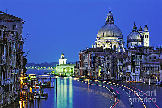 Canal Grande at Night in Venice Italy  by Robert Leon