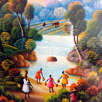 Caribbean landscape by Haitian artist