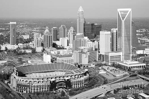 Bill Cobb - Charlotte Skyline with Bank of America Stadium