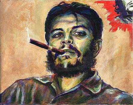 Che with cigar by Charles  Bickel