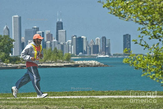 Chicago jogger by Jim Wright