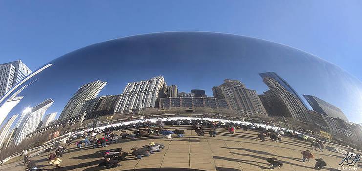 Chicago Skyline by Kenneth Hadlock