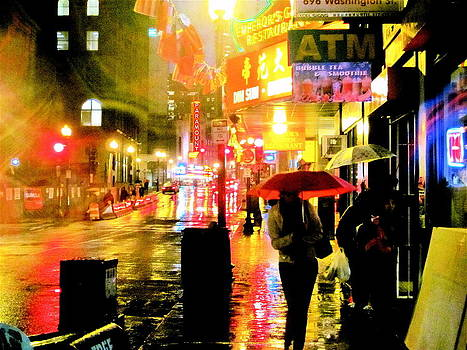 Chinatown At Night by Natalia Radziejewska
