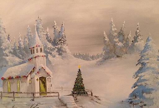 Christmas at the Little Church by Tim Loughner