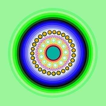 Circle Motif 126 by John F Metcalf