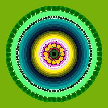 Circle Motif 225 by John F Metcalf