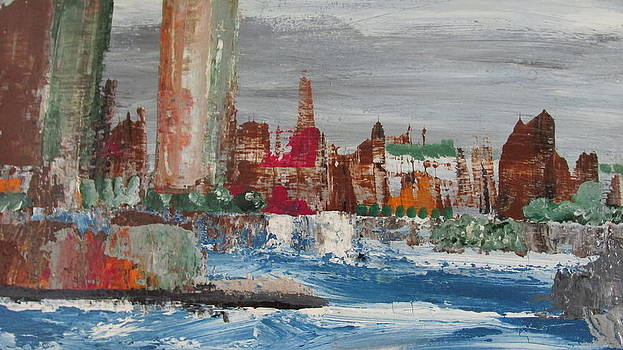 Cityscape with Barge Passing by Omar Hafidi