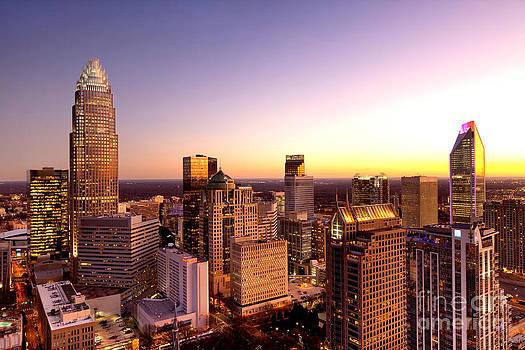 Close-in Charlotte NC skyline photo by Patrick Schneider