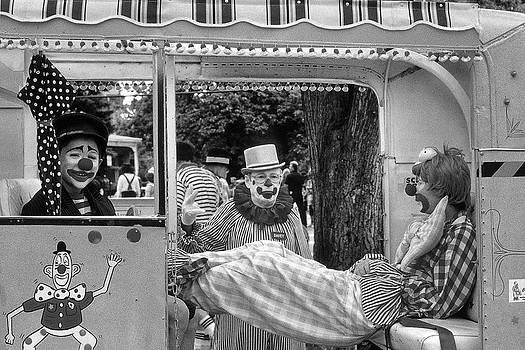 Clowns on Break by Joseph Duba